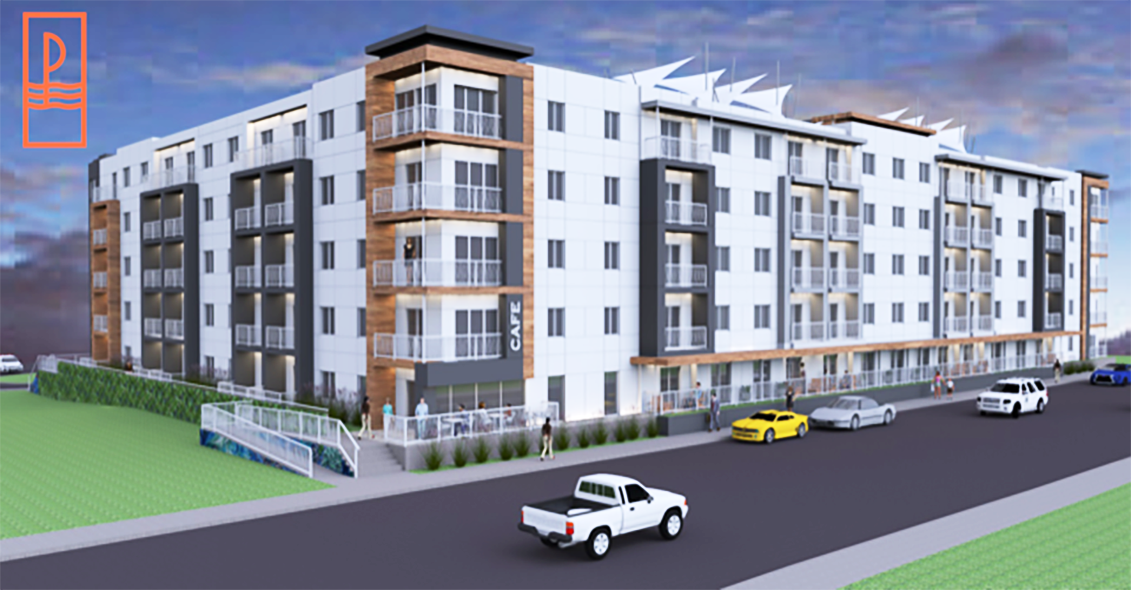 A rendering of the proposed development at the Paragon Boardwalk. [Courtesy of Chris Reale]