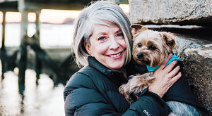 Jill Page and her dog Houston