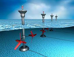 drawing of water turbines